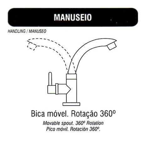Torneira Preta Bica Móvel. Mesa, Lavatório, Pia. Banheiro