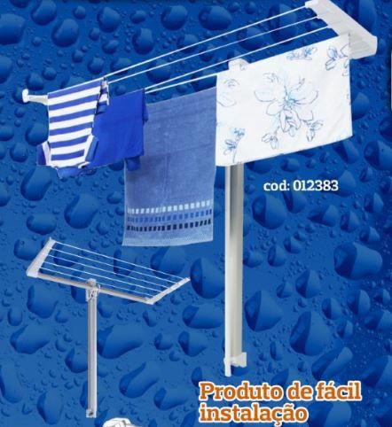 kit com dois varais pratico de parede