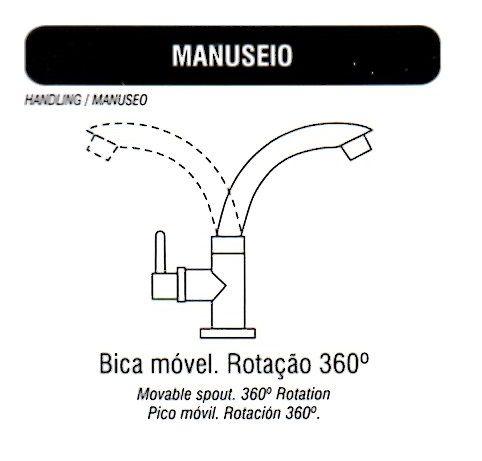 Torneira Bica Movél Branca Lavatório, Pia, Banheiro, (mesa)