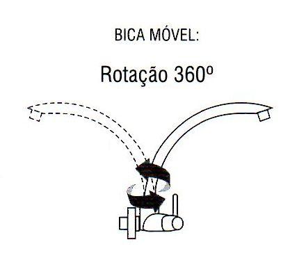 Torneira Bica Móvel Luxo C/ Opção De Cor Pia Parede, Cozinha