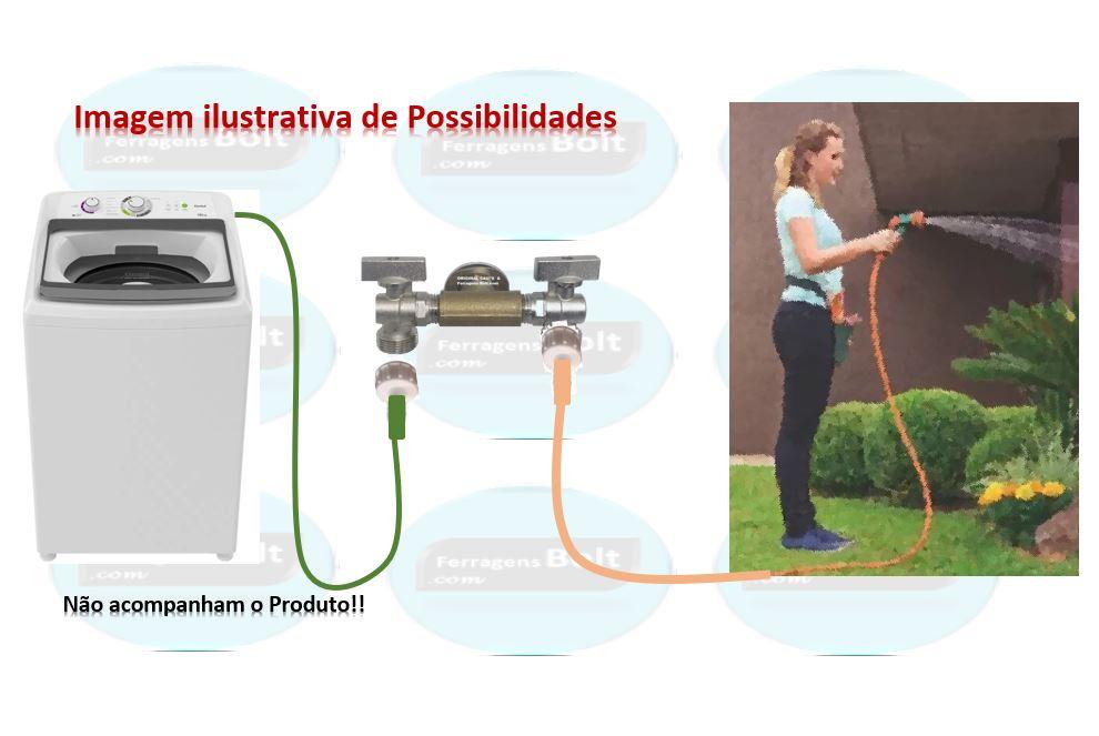 Torneira Slim dupla 2 saidas Rústica Multifuncional tipo Industrial , lavanderia, quintal