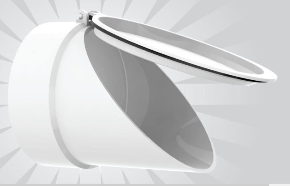 Válvula de Retenção branca 100 mm