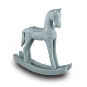 Cavalo Balanço Madeira Azul
