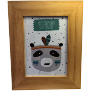 Porta Retrato Madeira Panda