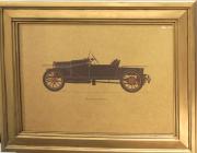Quadro Dourado Bugatti 1910