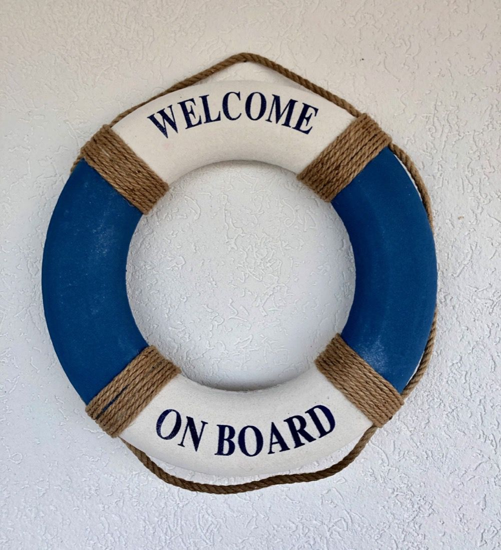 BOIA DECORATIVA WELCOME ON BOARD
