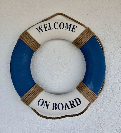 Boia Nautica Decorativa Welcome On Board