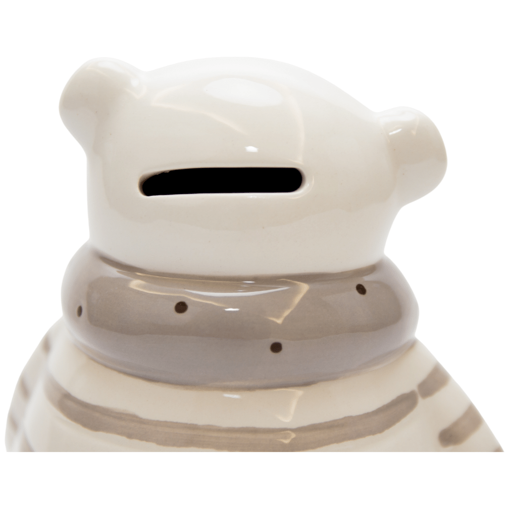 Cofrinho Urso Cerâmica Bege