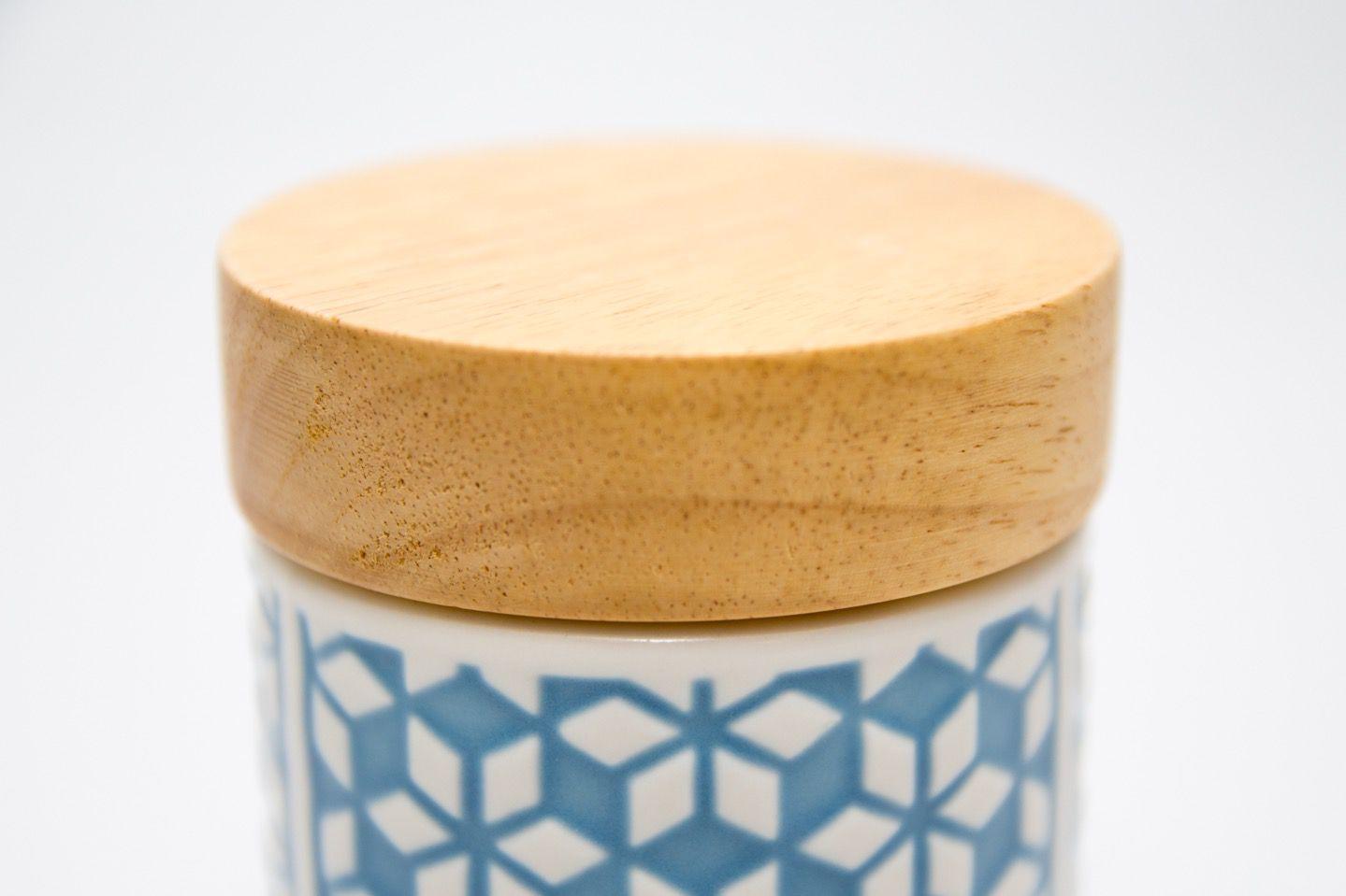 Pote Cerâmica Flor Azul