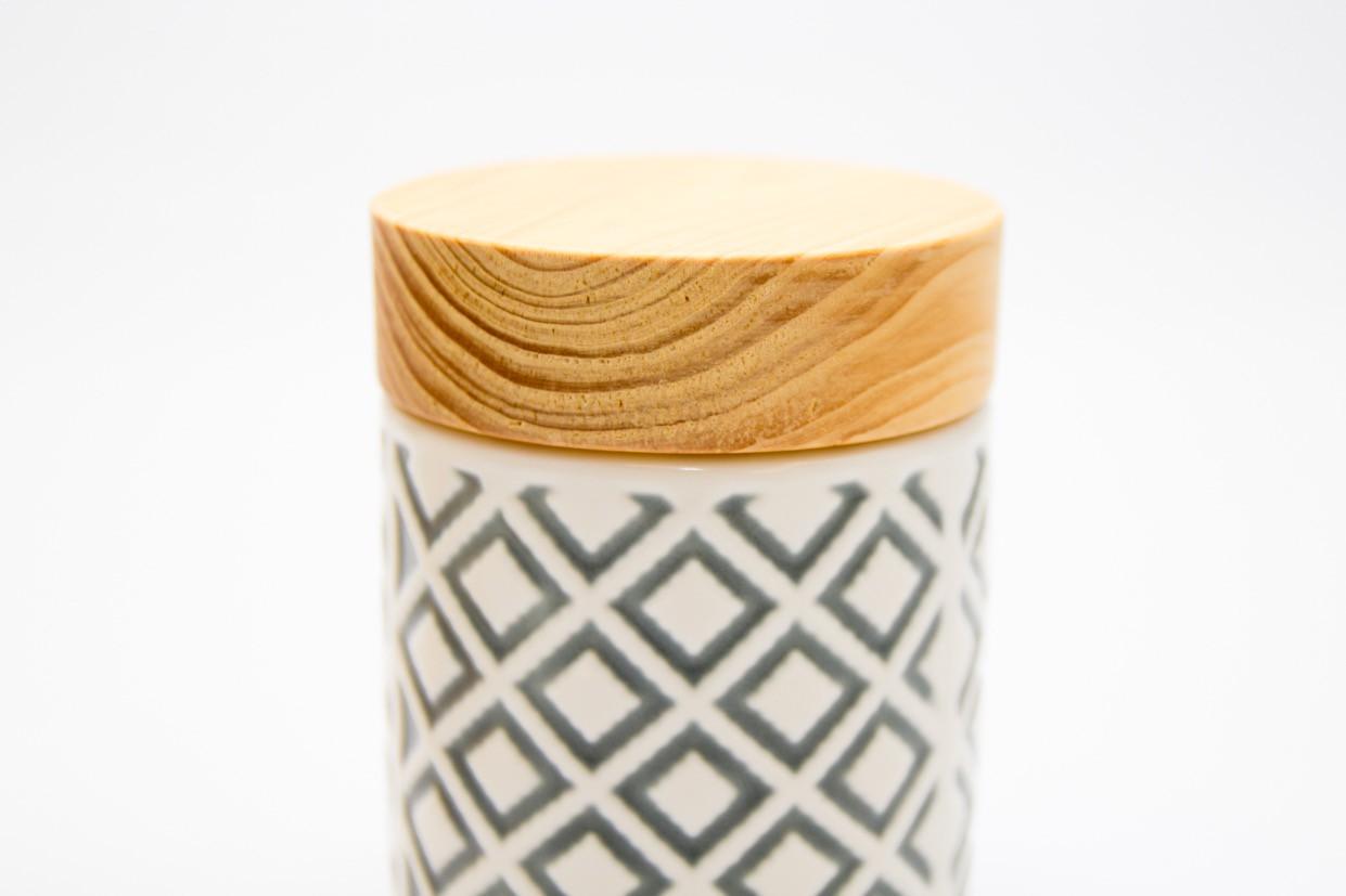 Pote Cerâmica Los Cinza