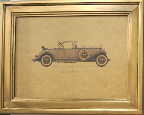 Quadro Dourado Cadillac 1931