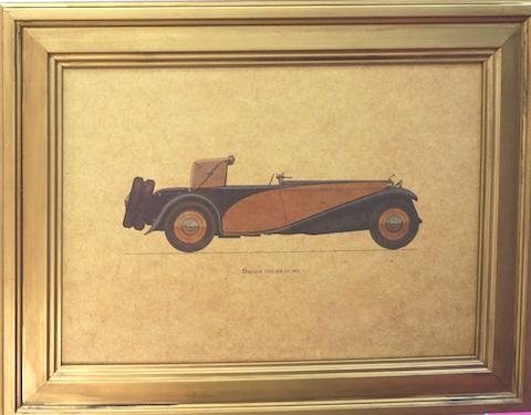 Quadro Dourado Delage 1933