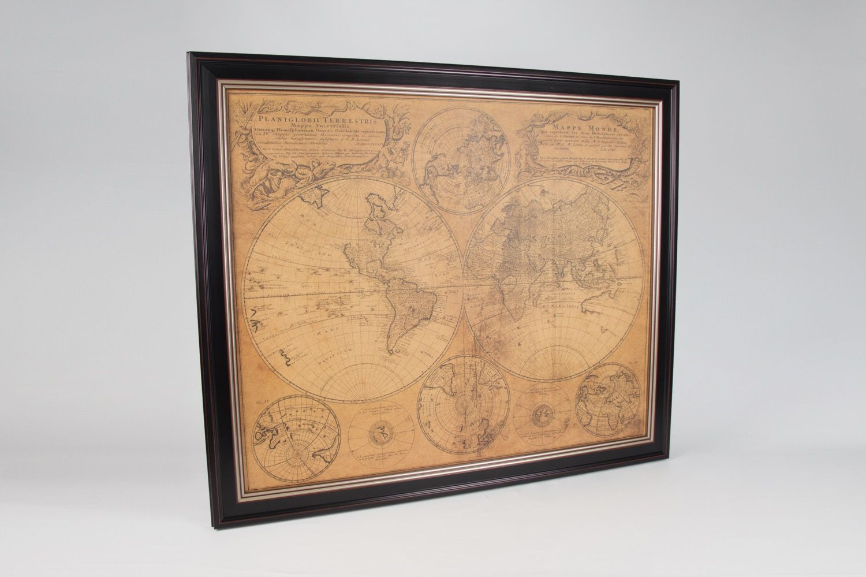 Quadro Mapa Mundi Antigo