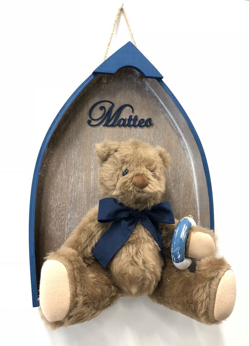 Quadro Maternidade Urso Barco