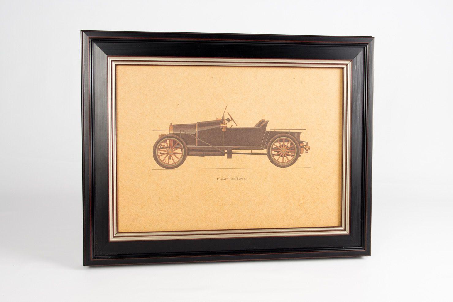 Quadro Preto Bugatti 1910
