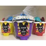 Kit com 10 baldes de praia Mickey e Minnie - Castelinho encantado