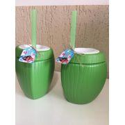 Copo Coco Verde com Canudo 850ml + Tag
