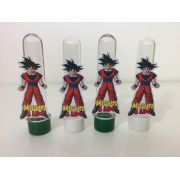 Kit com 10 Tubetes Acrílico 12cm Dragon Ball 3D