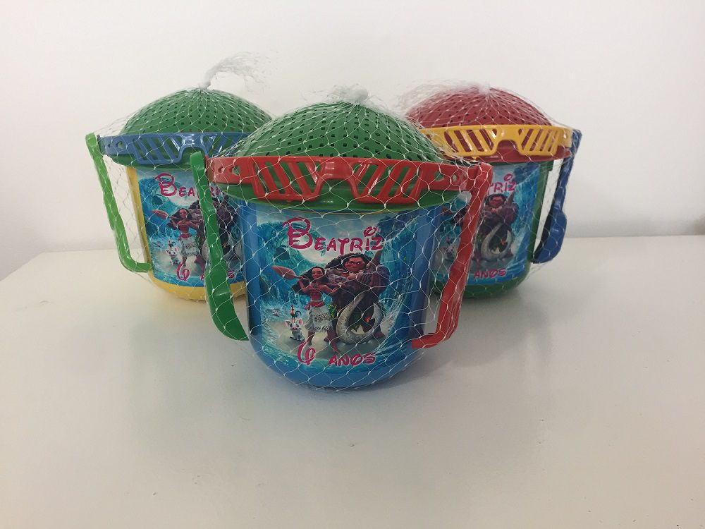 Kit com 10 baldes  de praia Moana