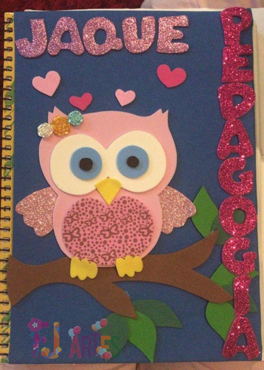 Caderno Personalizado Coruja