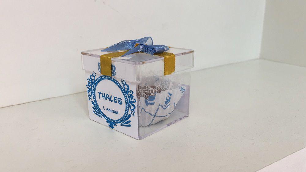 Kit com 10 Caixinhas de acrílico Aniversário