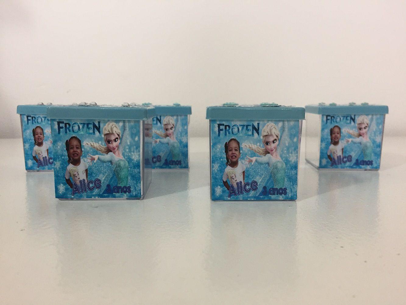 Kit com 10 Caixinhas de acrílico Frozen