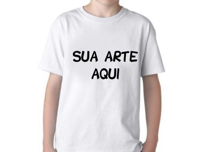 Camiseta Infantil Poliéster para sublimação