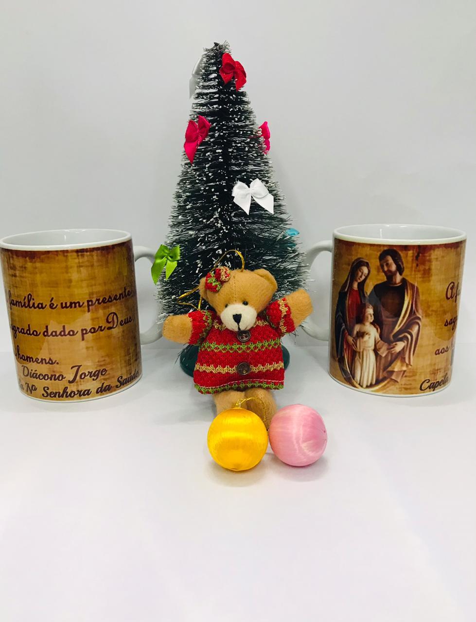 Caneca personalizada Natal Sagrada Familia