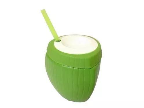 Copo Coco Verde com Canudo 850ml