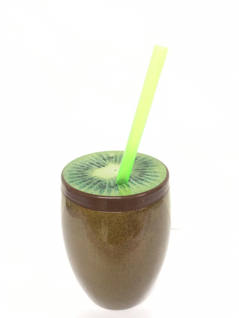 Copo Kiwi com Canudo 650ml