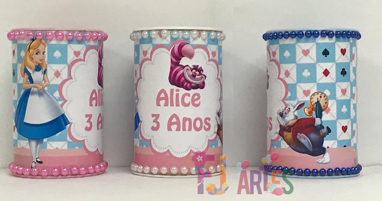 Kit com 10 Cofrinhos Alice no País das Maravilhas