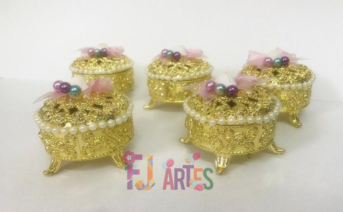 Kit com 10 Mini porta jóias Sereismo luxo