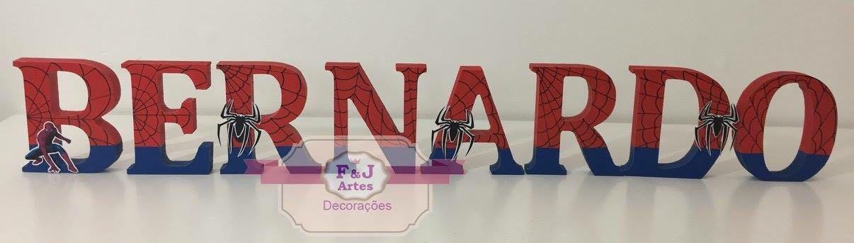 Letras em MDF Homem Aranha 3D 12cm