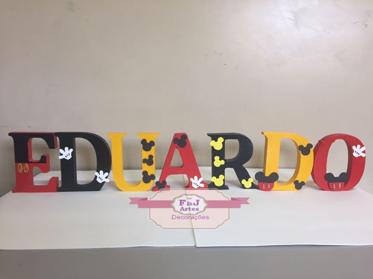 Letras em MDF Mickey 3D 12cm