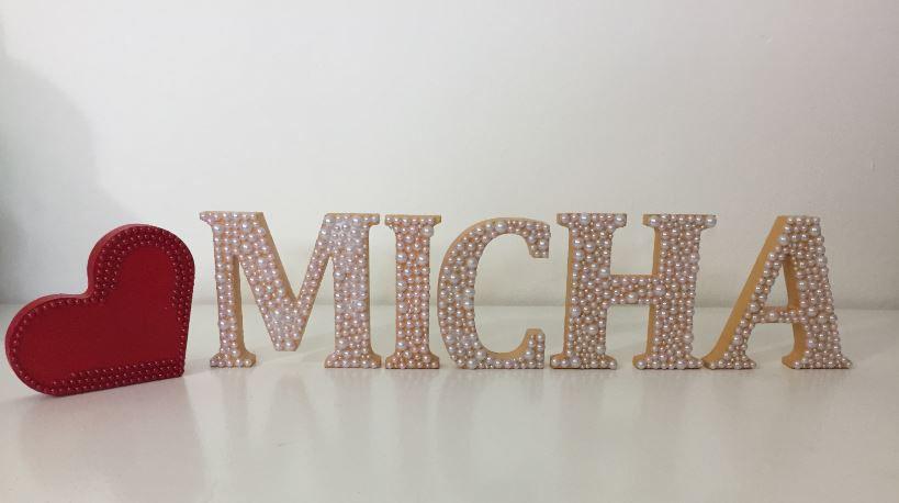 Letras em MDF nome 12cm