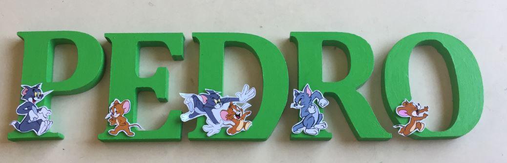 Letras em MDF Tom e Jerry 3D 12cm