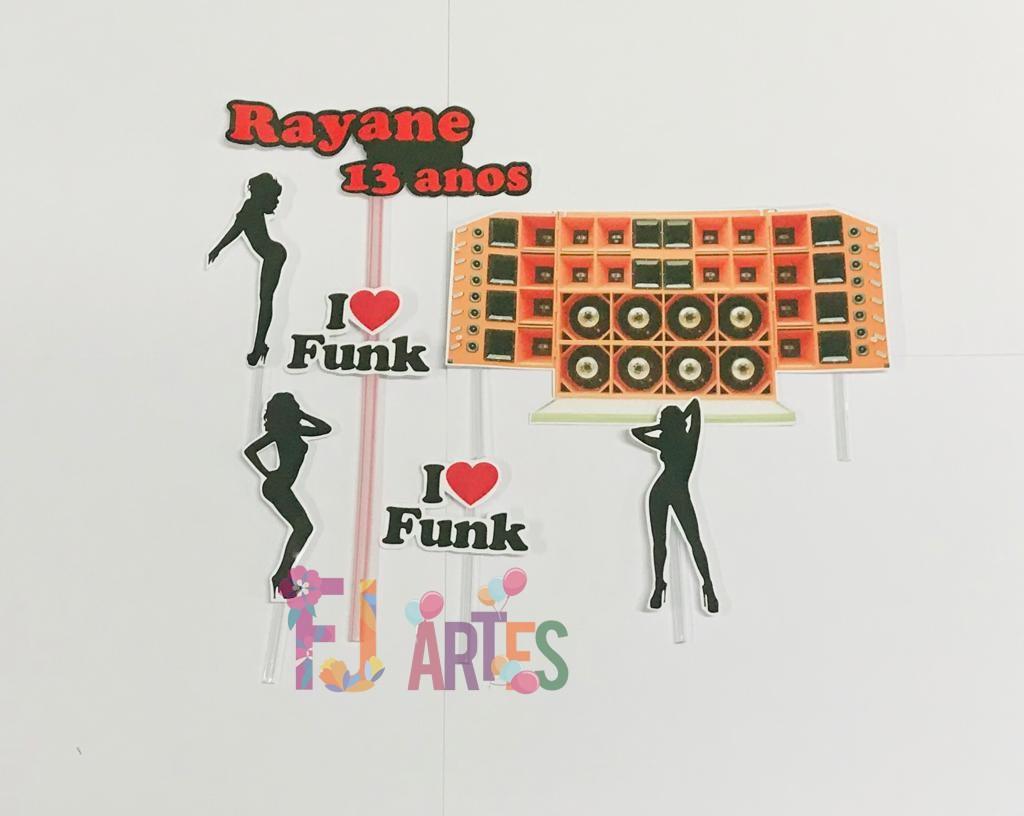 Topo de bolo - Baile Funk