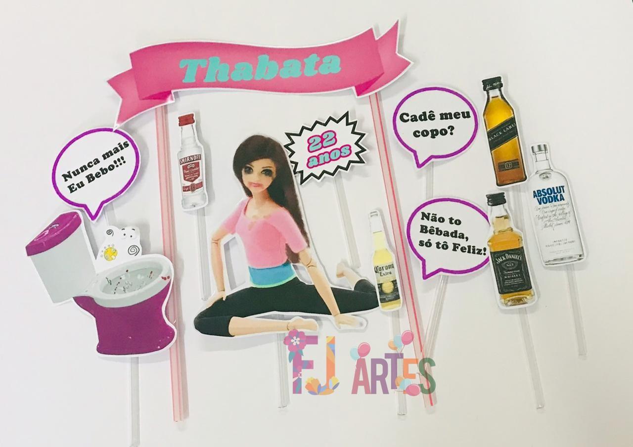 Topo de bolo - Barbie bêbada