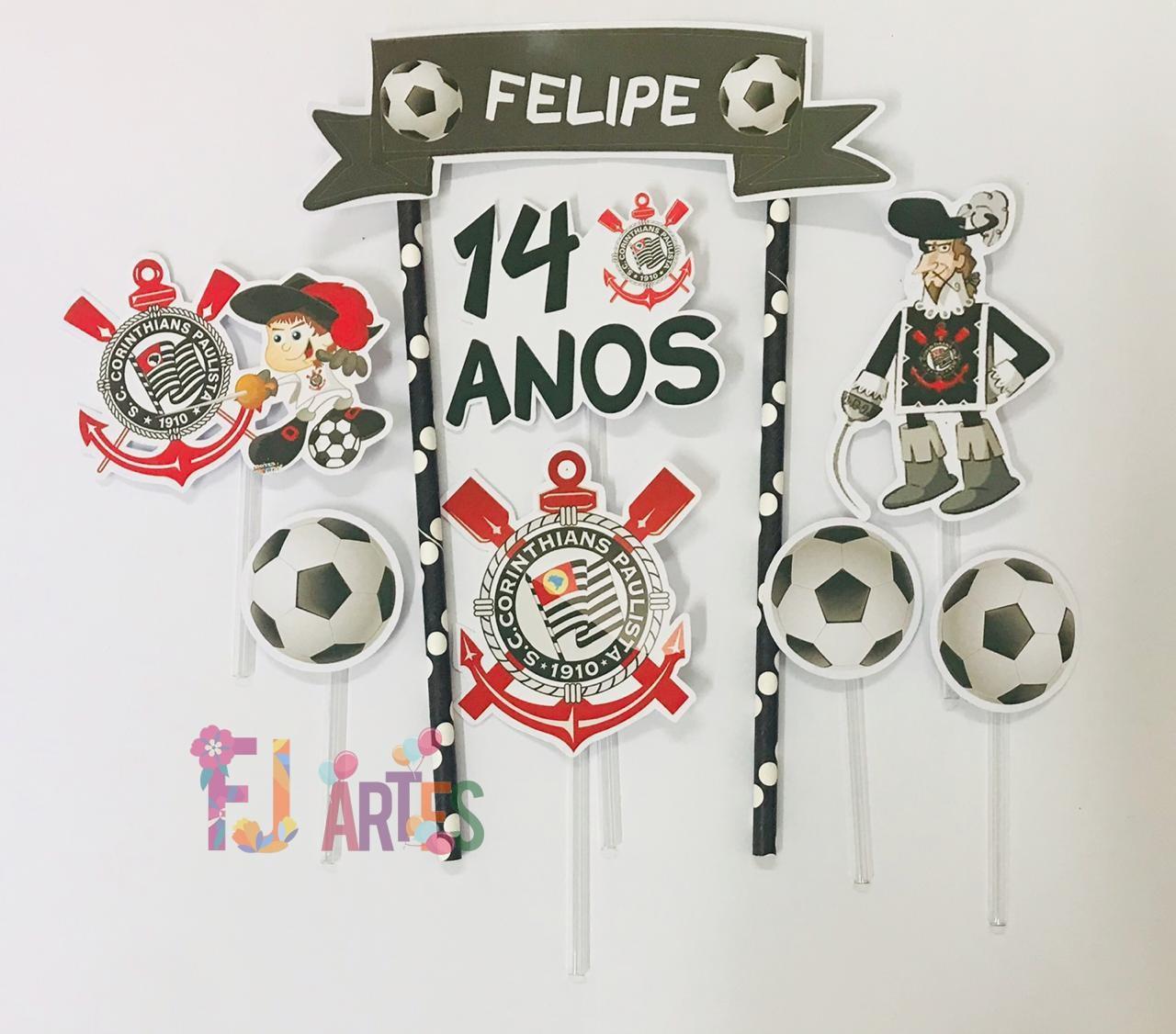 Topo de bolo - Corinthians