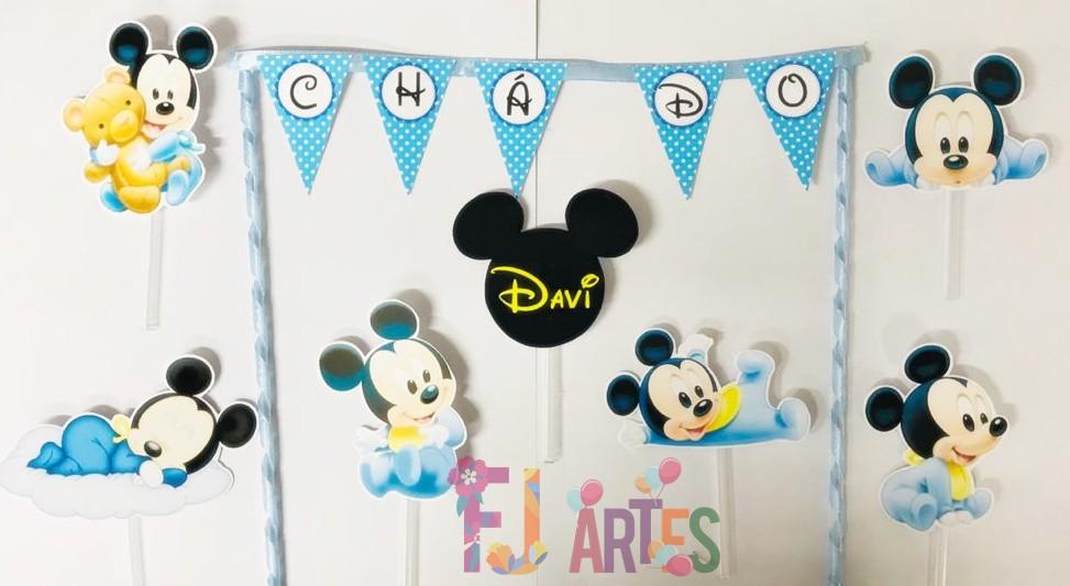 Topo de bolo - Mickey baby