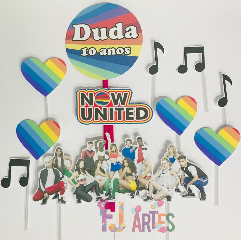 Topo de bolo - Now United