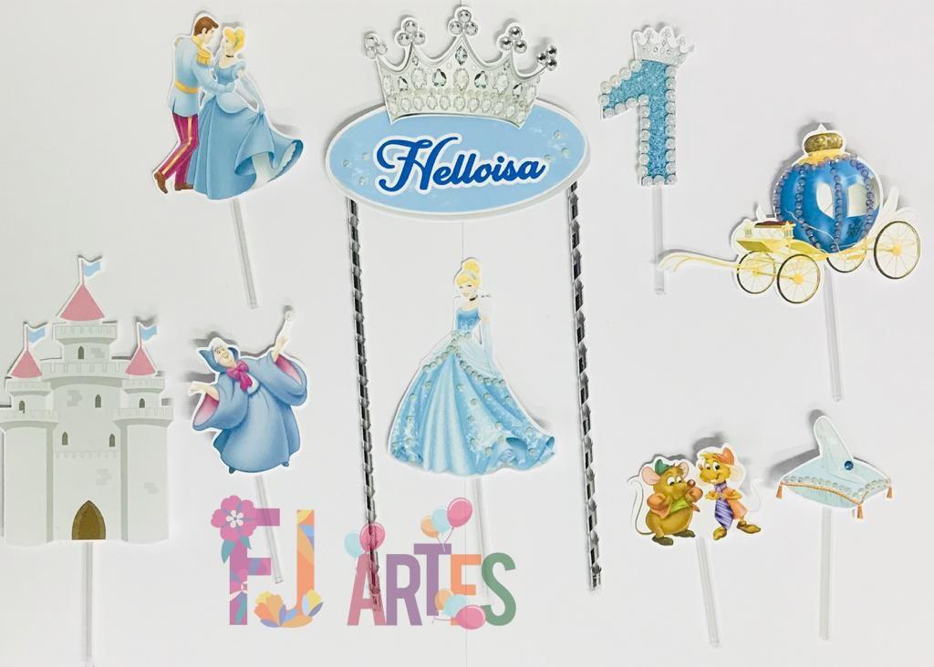 Topo de bolo - Princesa Cinderela