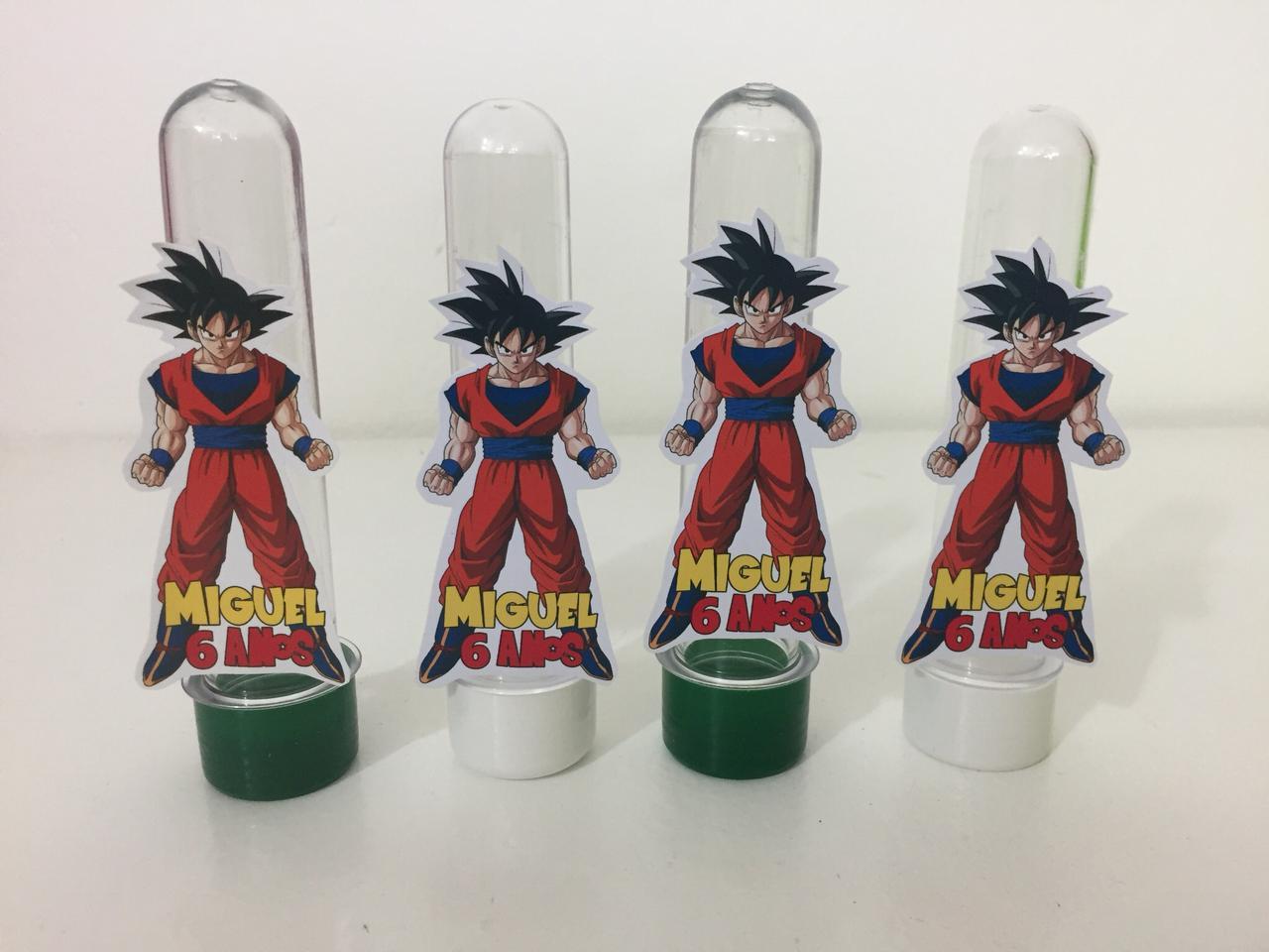Kit com 10 Tubetes Acrílico 12cm Dragon Ball 3D