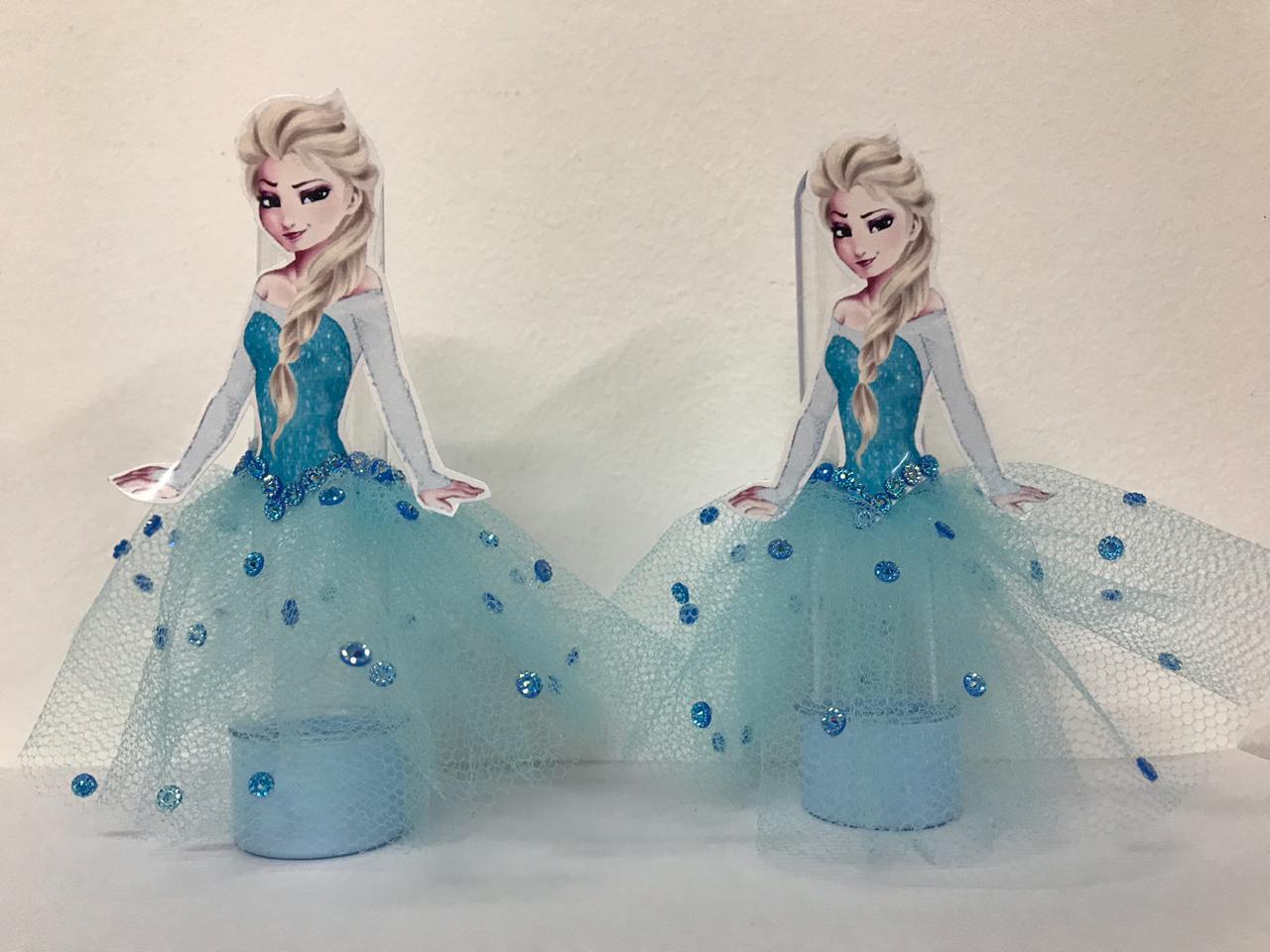 Kit com 10 Tubetes Acrílico 12cm Frozen