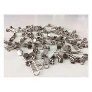 100 Unidades Cursor Prata / Cursor Niquelado Para Zíper N°03