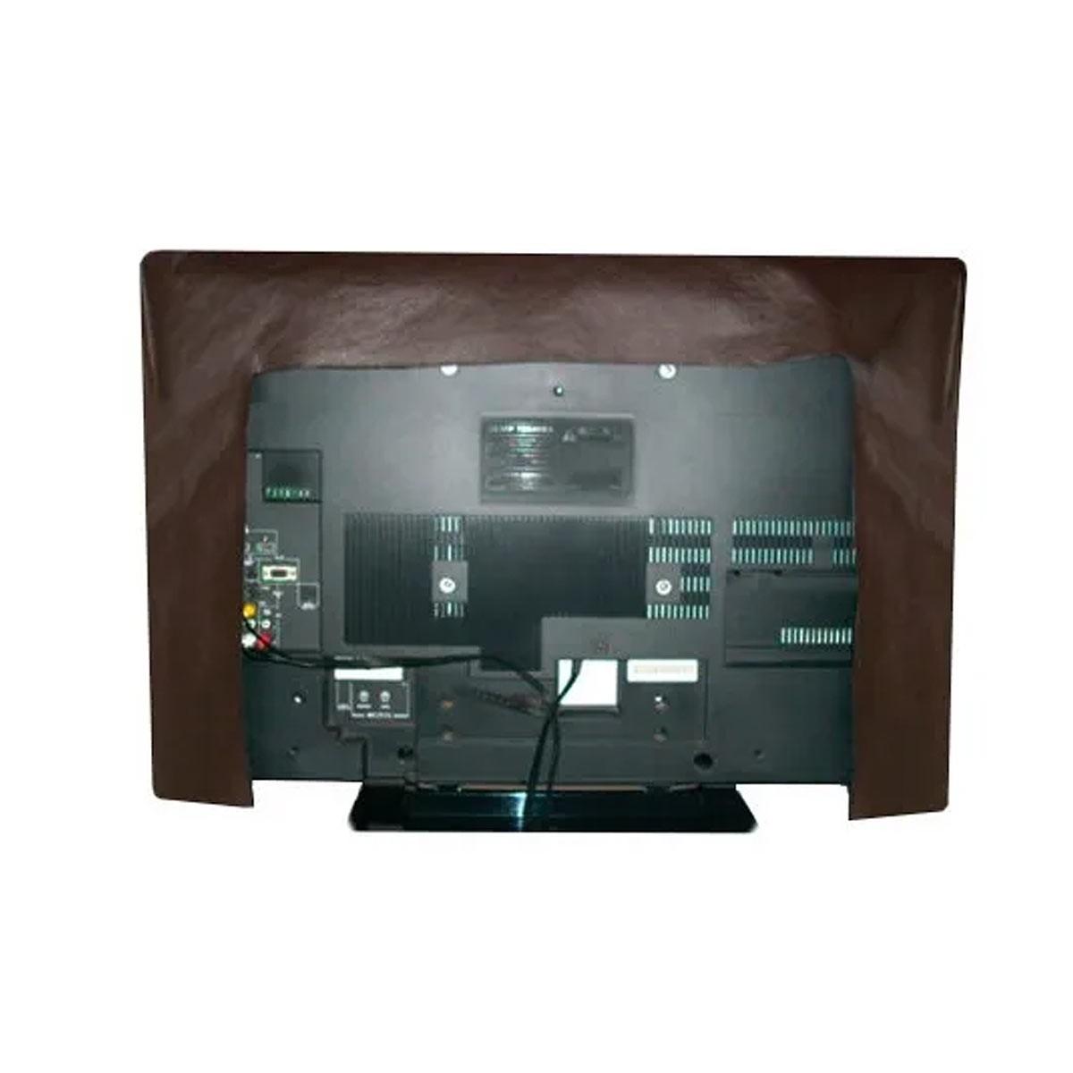 Capa Para TV De Luxo Em Corino Para TV LED e LCD - COR MARROM