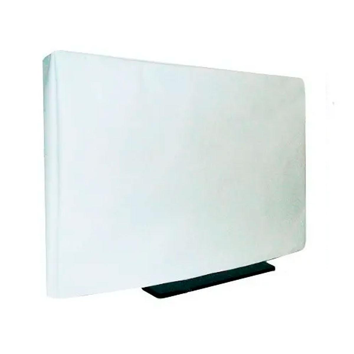 Capa Para TV De Luxo Em Corino Para TV LED e LCD - COR BRANCA