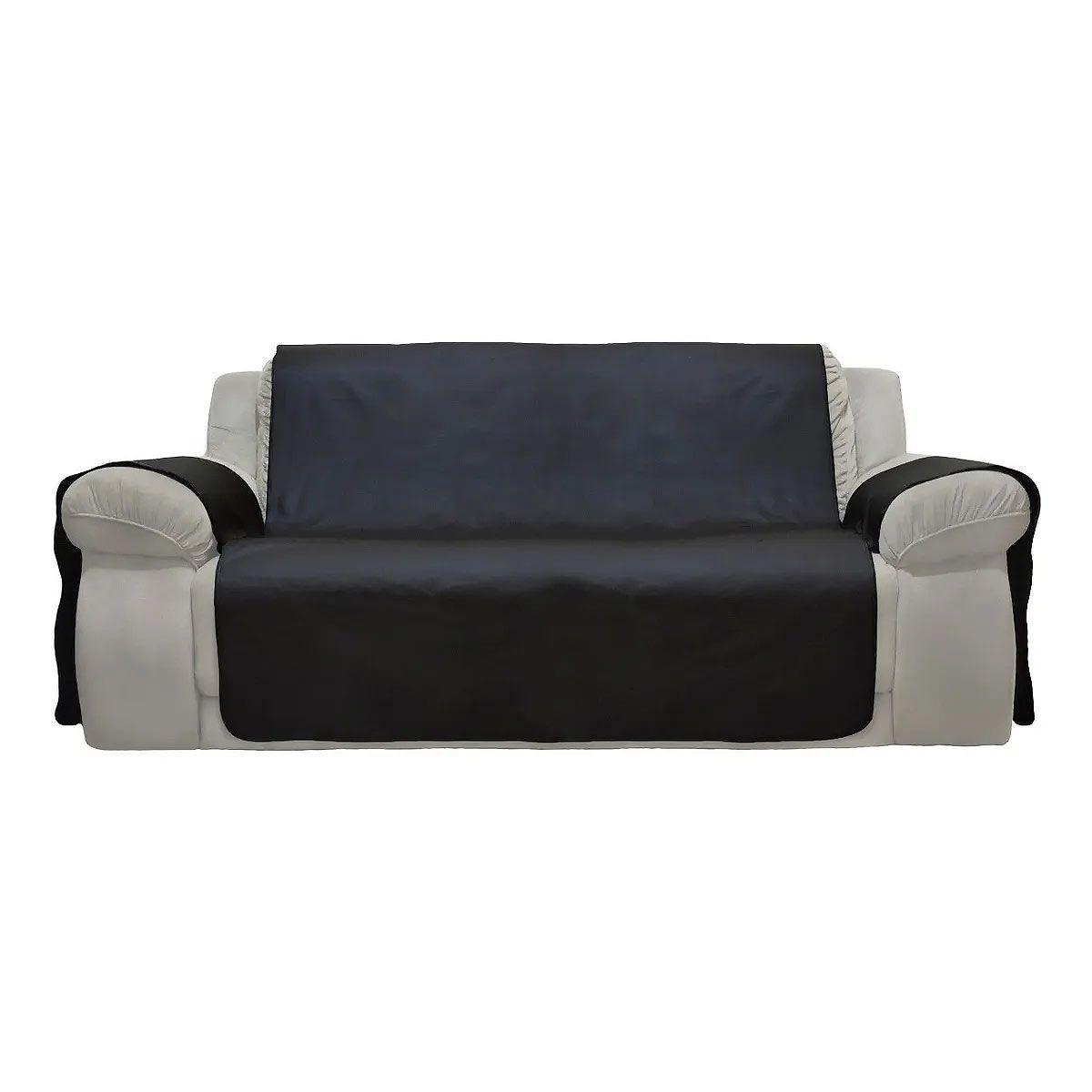 Capa De Luxo Protetora - Em Corino - Para Sofá De 3 Lugares