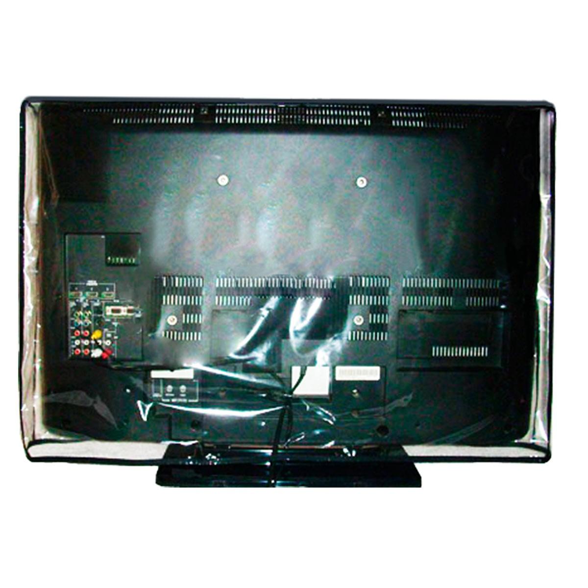 Capa Em Pvc Cristal Para Tv Lcd 26 - Fechada Atrás