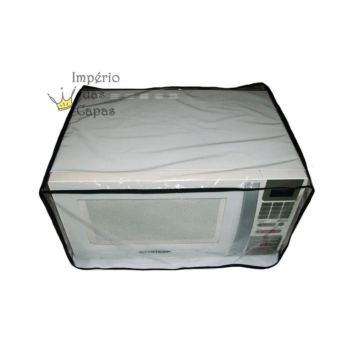 Capa Para Forno Microondas 30 L - Em Pvc Cristal - Tam M